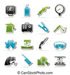 Welding and construction tools icons