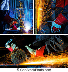 welding and grinding iron set