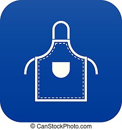Welding apron icon digital blue for any design isolated on...