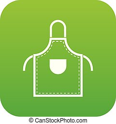 Welding apron icon digital green for any design isolated on...