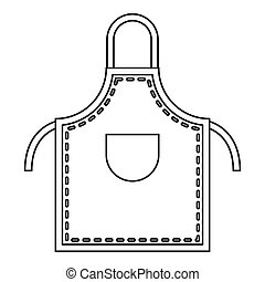 Welding apron icon outline