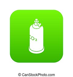 Welding cylinder co2 icon green