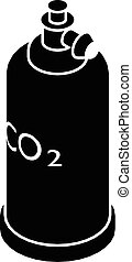 Welding cylinder co2 icon, simple black style