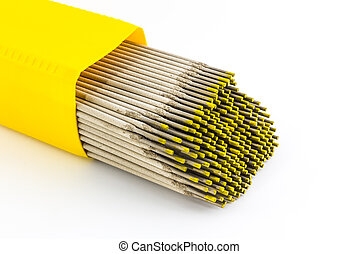 Welding electrodes wire. - Welding electrodes wire on the...
