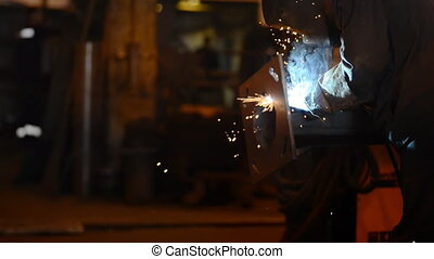 Welding Engineer weld attaching the base of pipes.a lot of...
