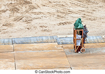 welding equipment at the construction site