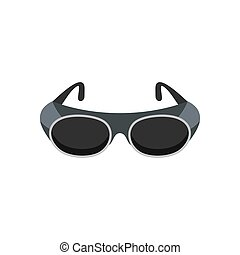 Welding glasses icon, flat style