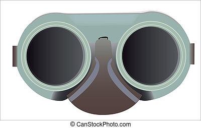 Welding goggles in the vector