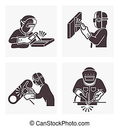 welding icons - Illustration of Welding icons sets.