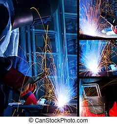 Welding iron collage
