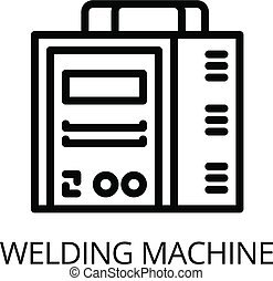 Welding machine icon, outline style