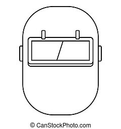 Welding mask icon outline