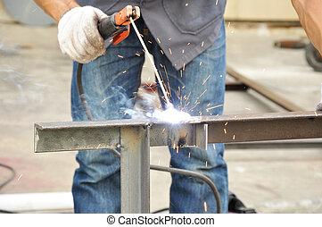 welding), oblouk, (or, tyč, svařování
