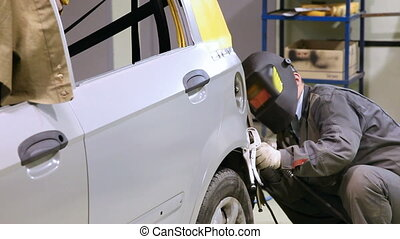 Welding of a car - Car repair bodywork