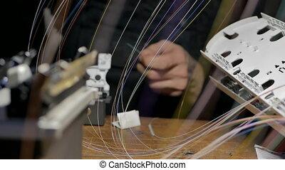 Welding of optical fibers