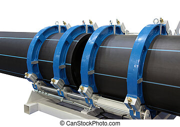 Welding of plastic pipes - The device for welding of plastic...
