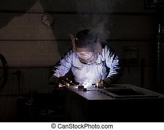 Welding operator