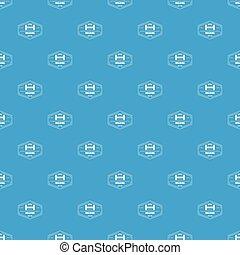 Welding pattern vector seamless blue
