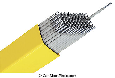 Welding Pegs - Welding Rods Isolated with Clipping Path