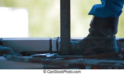 Welding process. Construction site