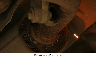 Welding Process Of Car Exhaust System Resonator Repair