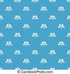 Weldung pattern vector seamless blue