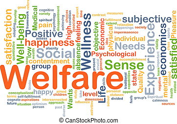 Welfare background concept