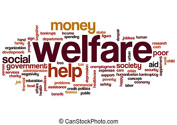 Welfare word cloud concept