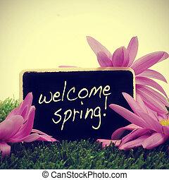 welkom, lente