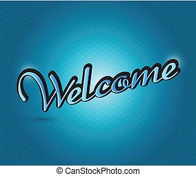 welkom, ontwerp, illustratie, meldingsbord