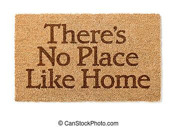 welkom, zoals, nee, daar, plek, thuis, witte , mat