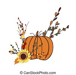 well-being., halloween., acción de gracias, símbolo, pumpkin...