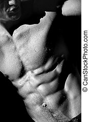 male torso - well defined naked male torso