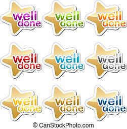 Well done motivation sticker - Well done child school ...