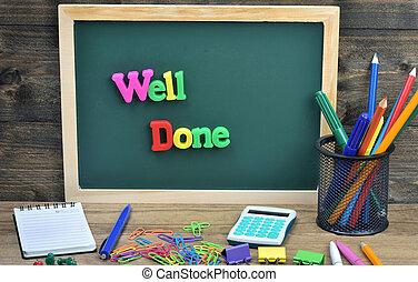 Well done word on school board