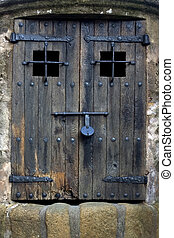 door - Well door in Tossa de Mar . Catalonia .Spain