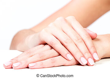 Well-groomed female hands