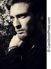 well groomed guy - Portrait of a handsome young man. Men's...