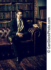 well groomed young man - Handsome well-dressed young man by...