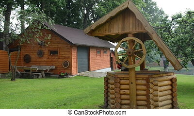 well house log wooden