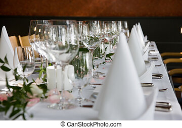 Well-laid table
