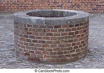 Medieval well in Leuvin , belgium