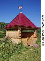 well on the river Chusovaya in the Perm region