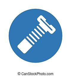 Screw icon, metal nut, bolt