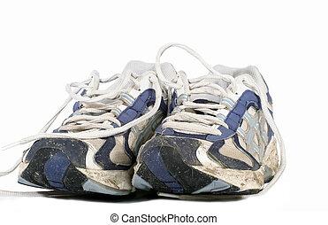 Well Worn - Well worn runners on white background
