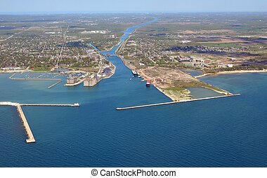 Welland Canal lake Erie entrance