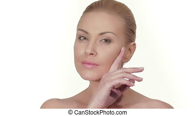 Wellbeing and skin care concept - Portrait of beautiful...