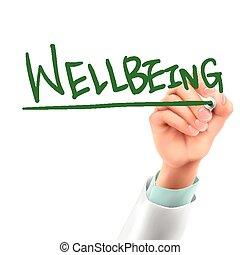 wellbeing, doutor, palavra, escrita