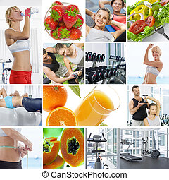 wellbeing - Wellbeing theme collage composed of different...