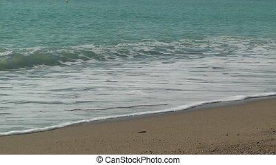 wellen, schäumend, tide., hintergrund., meer, feiertag